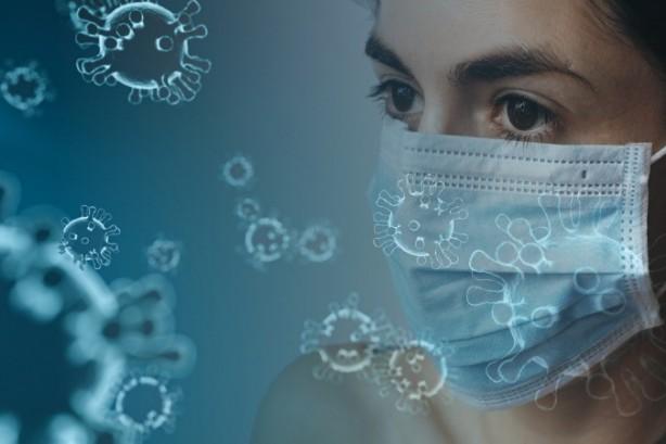 Coronavirus vrouw met mondkapje